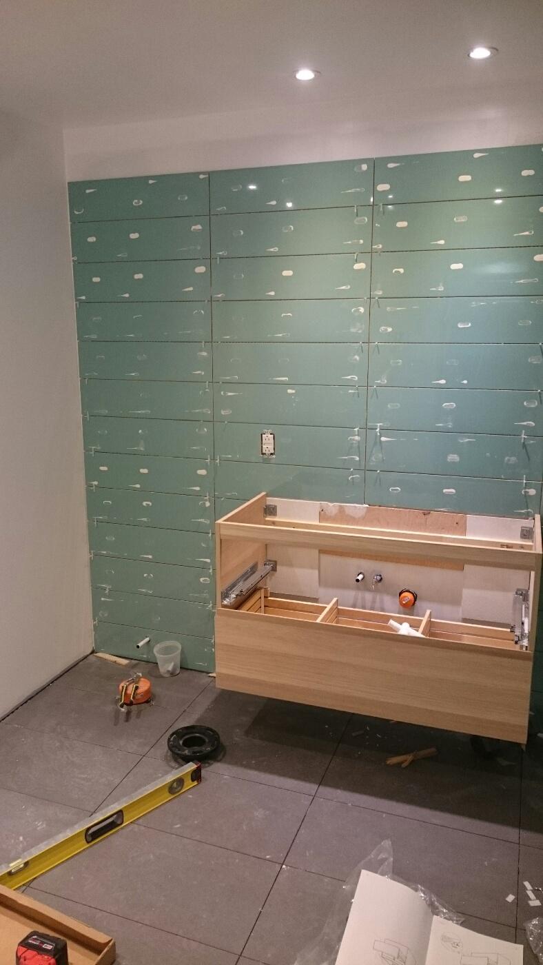 Salle de bains au sous sol avril 2015 for Salle bain sous sol